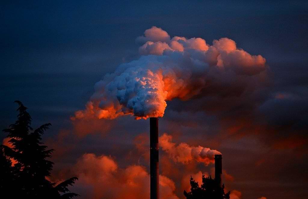 Umweltverschmutzung - rauchender Schornstein