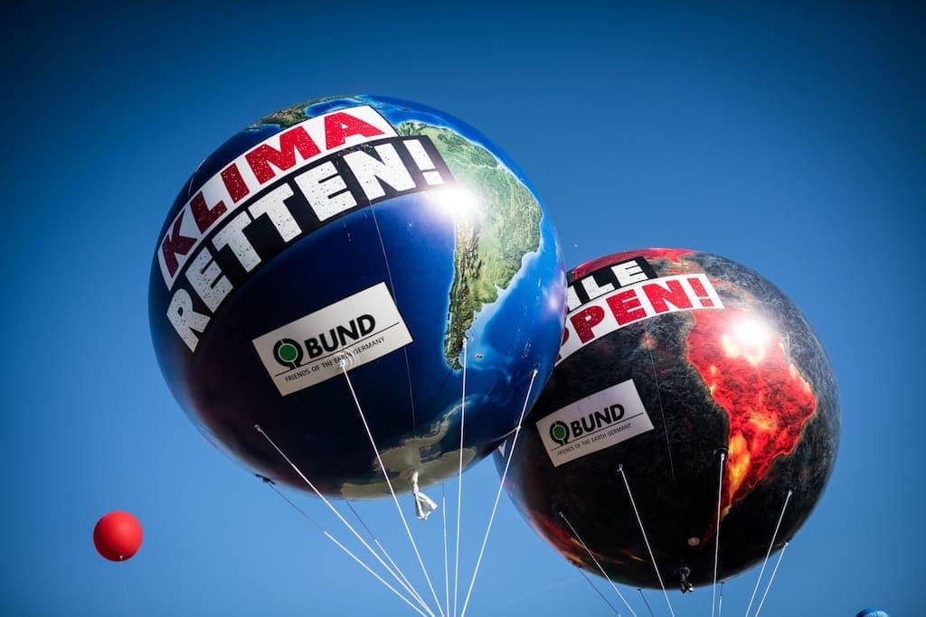 """Bund Demo Ballon """"Klima retten"""""""